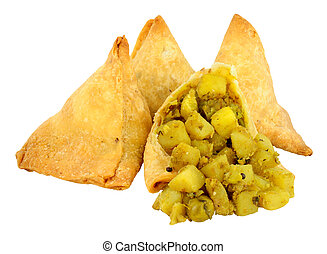 Punjabi Vegetable Samosas - Punjabi style vegetable samosas...