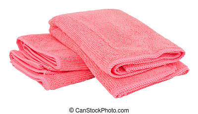 Microfibre Cleaning Cloths - Pink microfibre cleaning cloths...