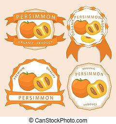 The theme persimmon - Abstract vector illustration logo...