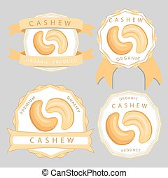 The theme cashew - Abstract vector illustration logo whole...