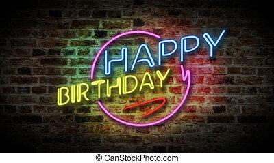 Happy Birthday neon light