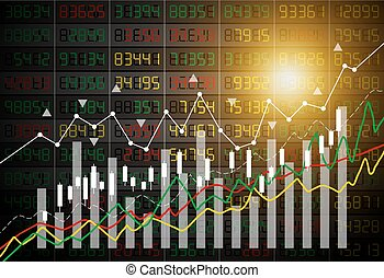 Vector business concept of stock market graph background...