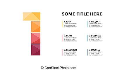 Vector alphabet infographic. Presentation slide template....