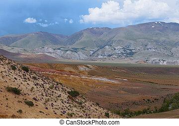 Altai mountains. Beautiful highland landscape. Russia....