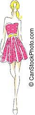 fashion woman sketch