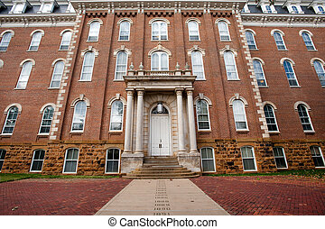 The Old Main with Senior Walk - oldest building on the...