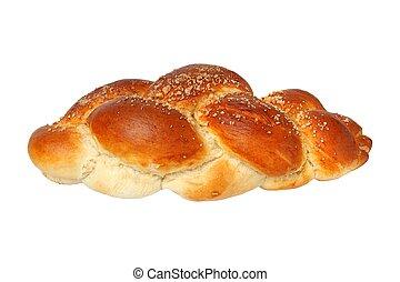 Challah bun on white - Challah bun isolated on white...