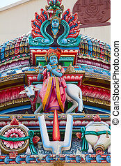 Hindu temple - Fragment of decorations of the Hindu temple...