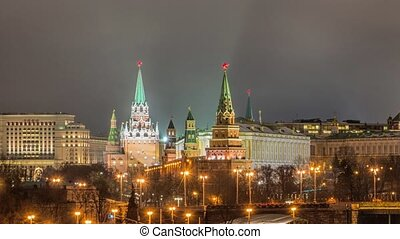 View of Moscow Kremlin in winter night. Russia - Stunning...