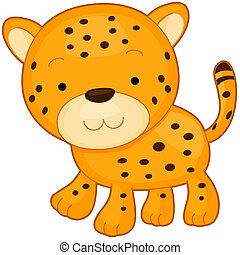 Cheetah - Illustration of a Cheetah Smiling While Walking