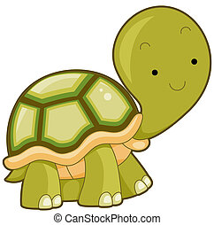 Turtle - Illustration of a Large Turtle Flashing a Smile...