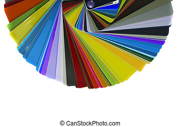 color palette isolated on the white background