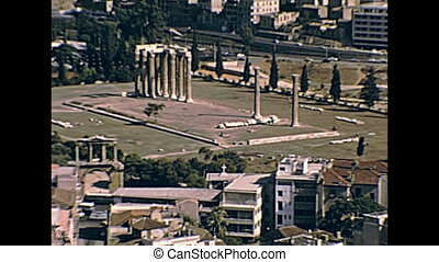 Temple of Olympian Zeus - Close out from Ancient Greek...