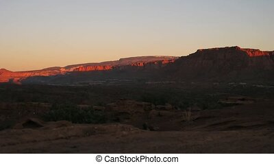 Capitol Reef NP - Time lapse sunrise over Capitol Reef NP,...