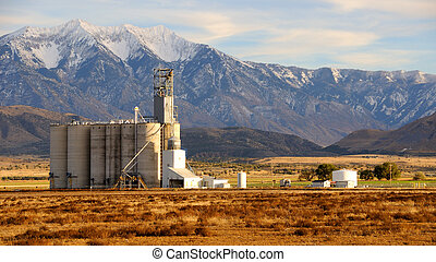 Old Grain Elevator in Utah Valley