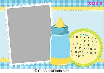 Baby's calendar for november 2011