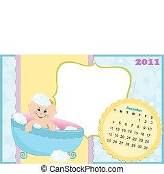Baby's calendar for december 2011
