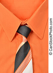 Shirt and tie - Closeup of an orange shirt and necktie