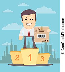 Successful manager merchandiser or businessman. A man in a...