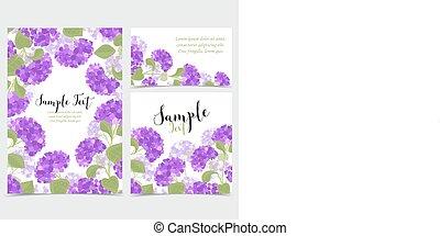 Vector hydrangea flower - Set vector illustration of...