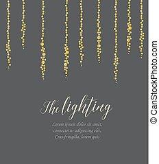 Vector string lights - Vector illustration of light cords on...