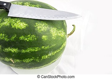 Indispensable fruit of summer months watermelon, waiting for...