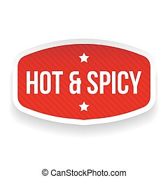 Hot and Spicy sticker vector