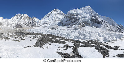 Khumbu glacier and Everest base camp area