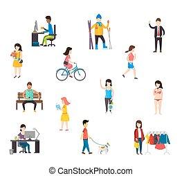People in various lifestyles. - People in various...