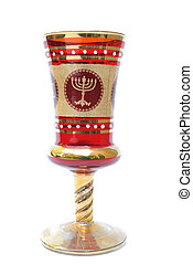 Seder Cup - A seder cup with a menorah used in festive...