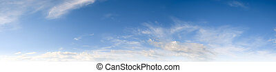 Sky and clear clouds panorama