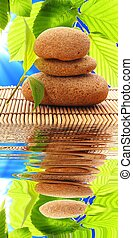 spa zen or summer concept with stone and water