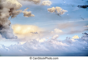 Sky clouds art sunrise background