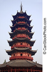 Ancient Chinese Ruigang Auspicious Light Pagoda Dates Back...