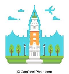Flat design Torre Monumental illustration vector