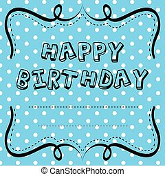 Card template design for birthday