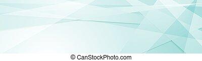 Light cyan tech geometric banner design