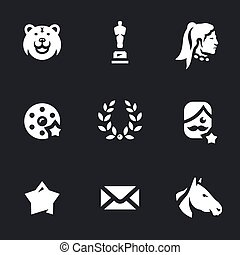 Vector Set of Movie Award Icons.