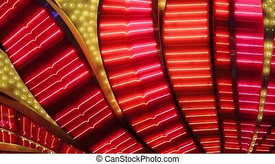 Neon flashing lights of Las Vegas Casino - Las Vegas Neon...