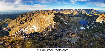 Beutiful Tatras nature summer landcape with mountain and...