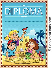 Diploma subject image 7 - eps10 vector illustration.