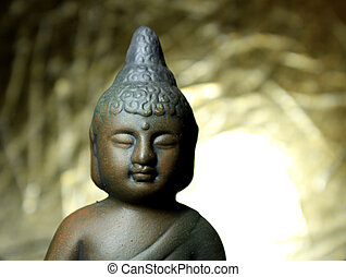 Religion - Buddha in front of a golden background