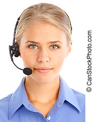 Call Center Operator - Beautiful business woman with...