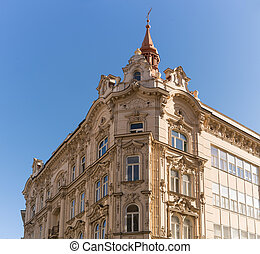 historical bulding in Brno - Beautiful facades of the...