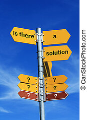 Is there a solution - Is there a solution direction sign