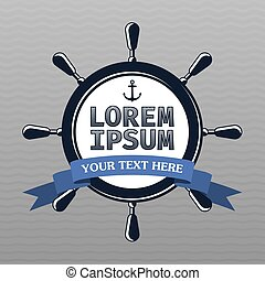 Lorem Ipsum Design Template Poster with words your text here...
