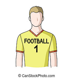 Footballer.Professions single icon in cartoon style raster,...