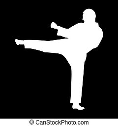 Karate man   it is the white color icon .