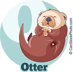 ABC Cartoon Otter - Vector image of the ABC Cartoon Otter