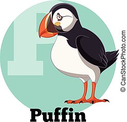 ABC Cartoon Puffin - Vector image of the ABC Cartoon Puffin